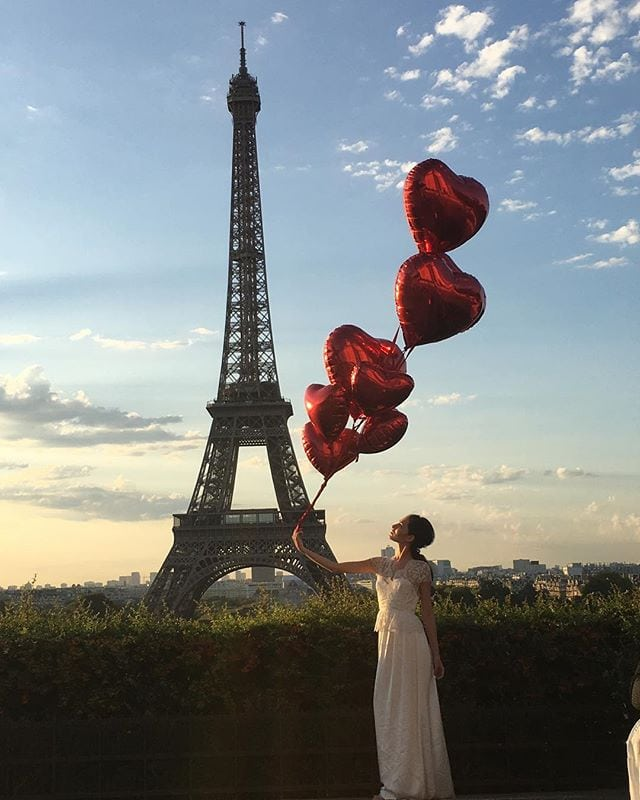 In Love with Paris #parisshootlyb with @liveyourbeauty makeup and hair by LYB team of artists #paris