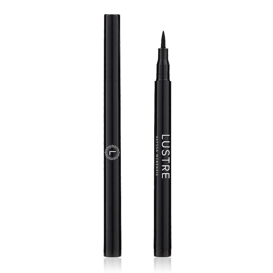 Use our #Eyeliner Pen to create #subtle or full on #smudgeproof drama. Highly water resistant #longwear formula. #lustre #cateye #makeupjunkie #graphi